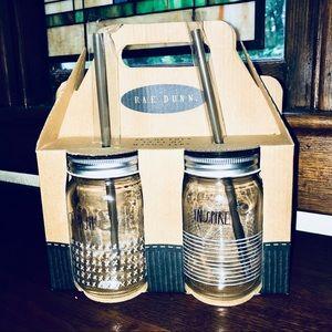 Rae Dunn Mason Jar Drink Set